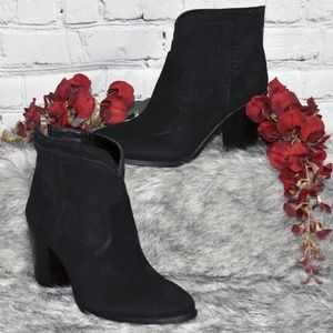 Perforated Suede Ankle Boots - Fretzia (Sz 6M)
